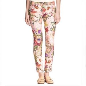 Tory Burch Women's Izzy Floral Ankle Skinny Jeans